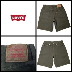 Levi's 550 shorts, size 31, hunter green, 100% cot